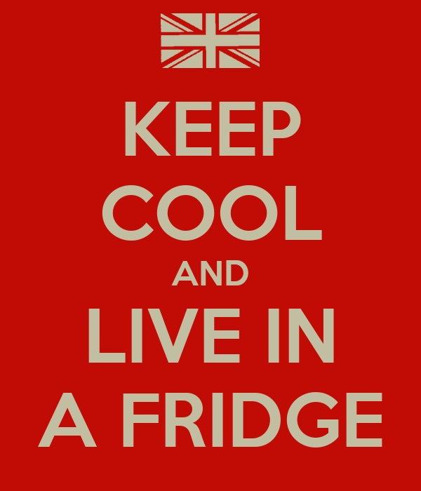 KEEP COOL AND LIVE IN A FRIDGE