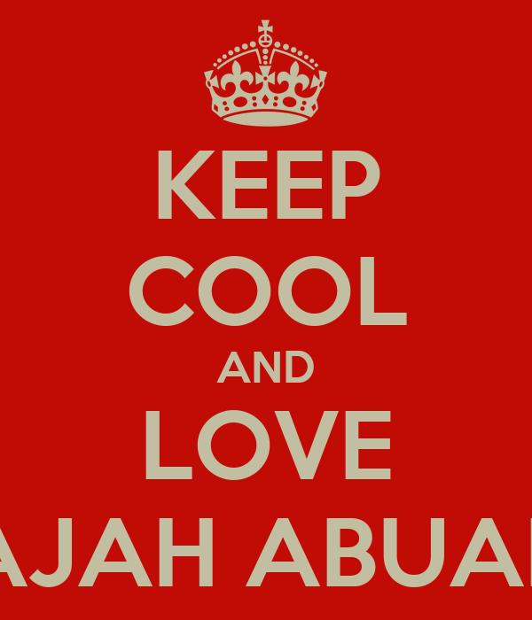 KEEP COOL AND LOVE GAJAH ABUABU