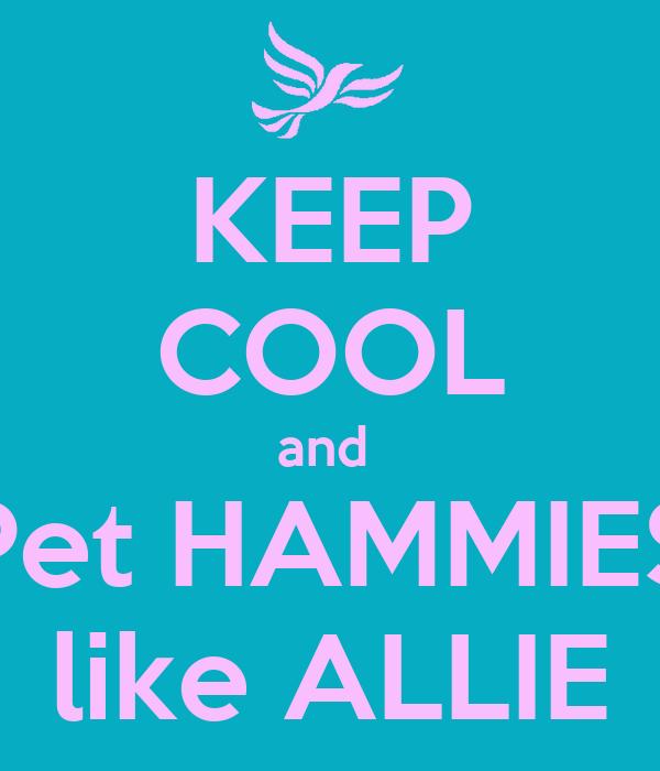 KEEP COOL and  Pet HAMMIES like ALLIE