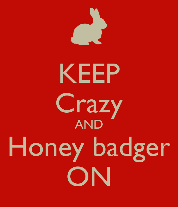 KEEP Crazy AND Honey badger ON