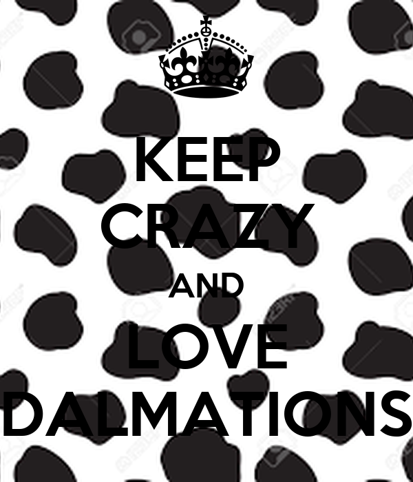 KEEP CRAZY AND LOVE DALMATIONS