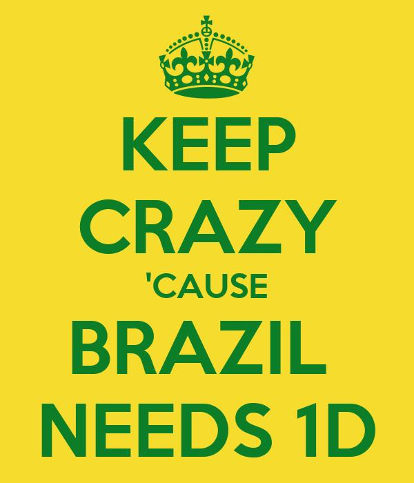 KEEP CRAZY 'CAUSE BRAZIL  NEEDS 1D