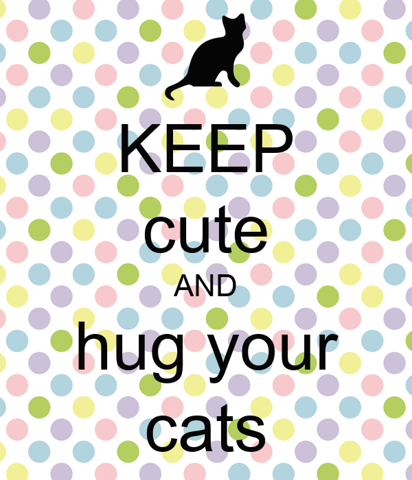KEEP cute AND hug your cats