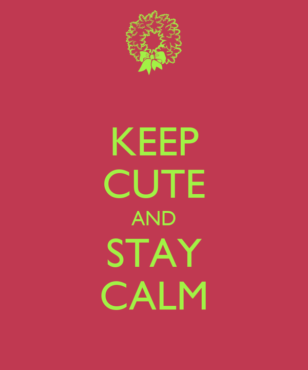 KEEP CUTE AND STAY CALM
