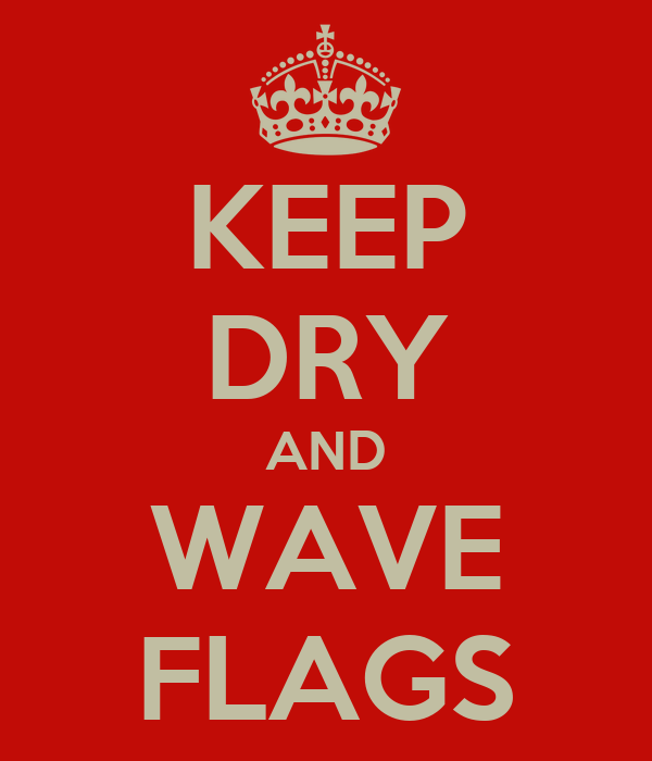 KEEP DRY AND WAVE FLAGS