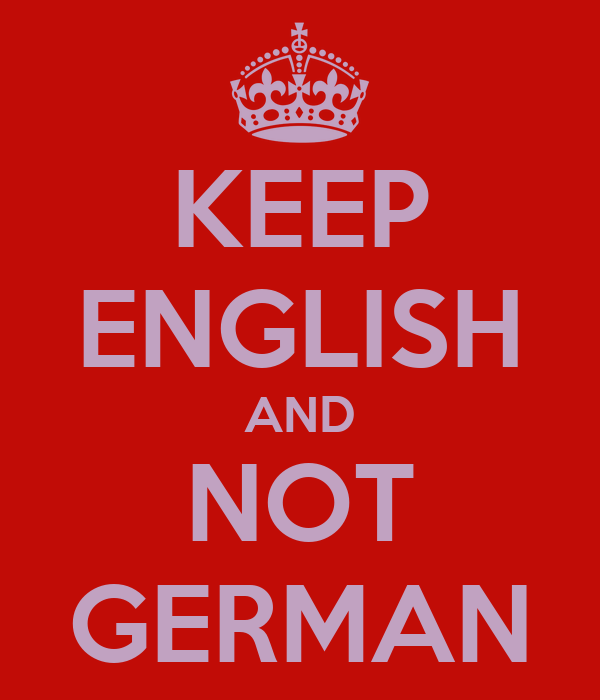 KEEP ENGLISH AND NOT GERMAN