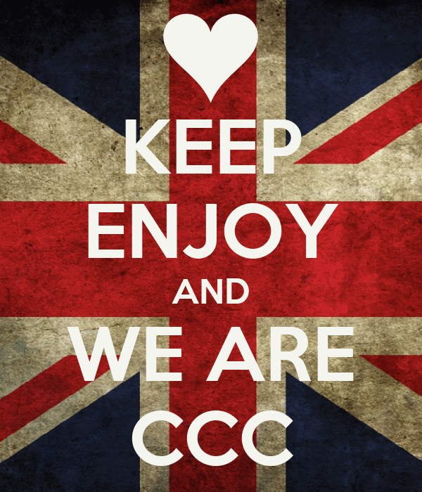 KEEP ENJOY AND WE ARE CCC