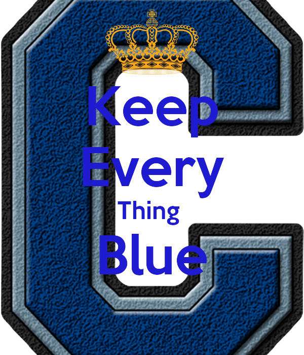 Keep Every Thing  Blue