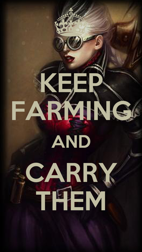 KEEP FARMING AND CARRY THEM