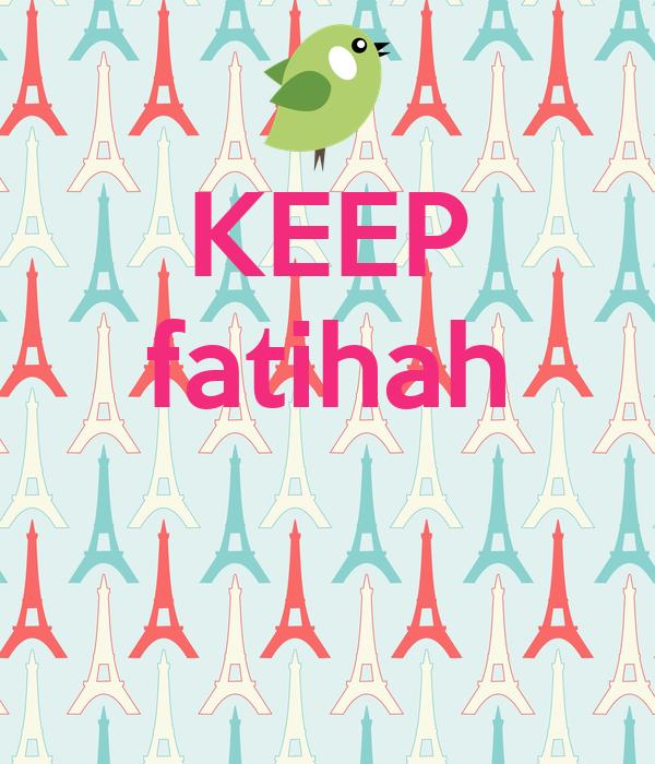 KEEP fatihah