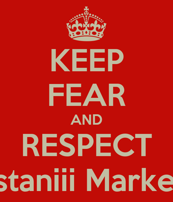 KEEP FEAR AND RESPECT Pakistaniii MarkeloFF