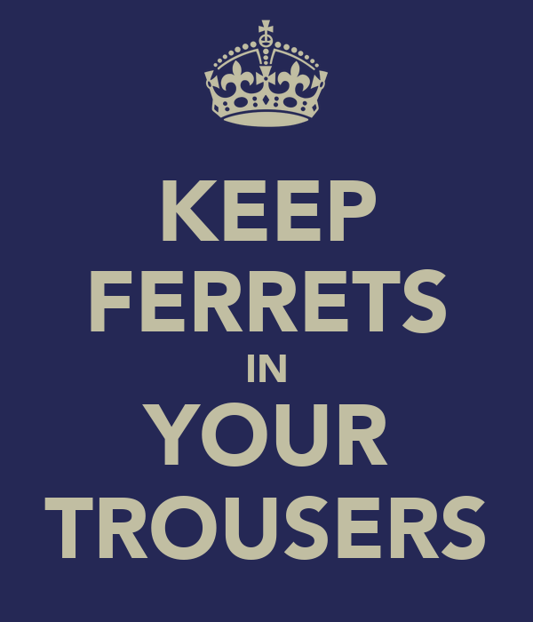 KEEP FERRETS IN YOUR TROUSERS