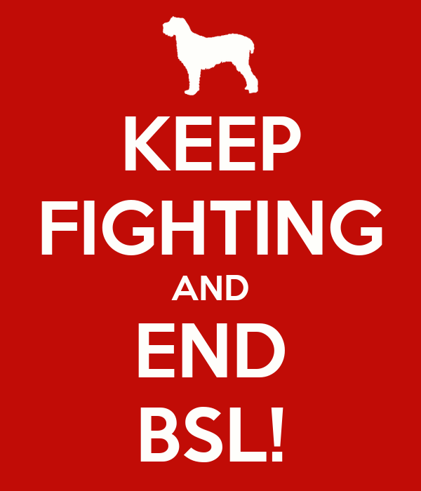 KEEP FIGHTING AND END BSL!