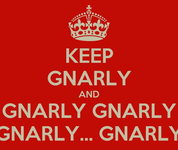 KEEP GNARLY AND GNARLY GNARLY GNARLY... GNARLY