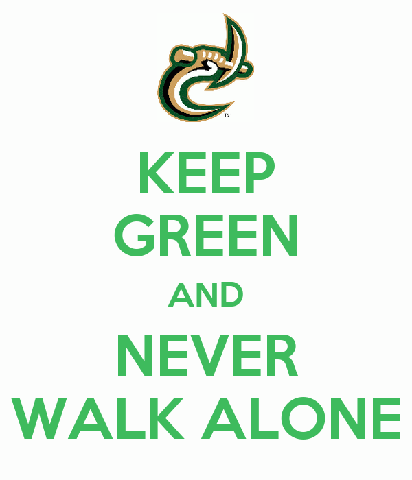 KEEP GREEN AND NEVER WALK ALONE