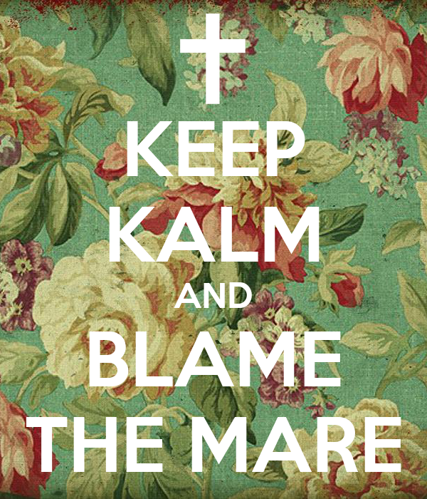 KEEP KALM AND BLAME THE MARE