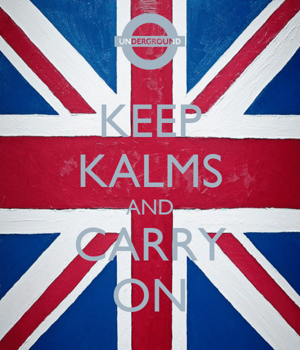 KEEP KALMS AND CARRY ON