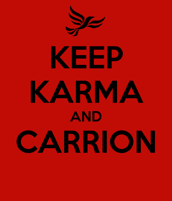 KEEP KARMA AND CARRION
