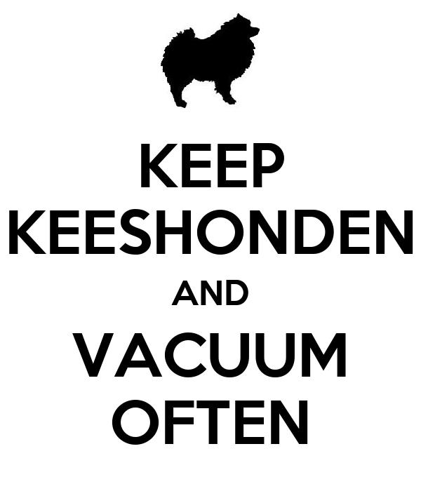 KEEP KEESHONDEN AND VACUUM OFTEN