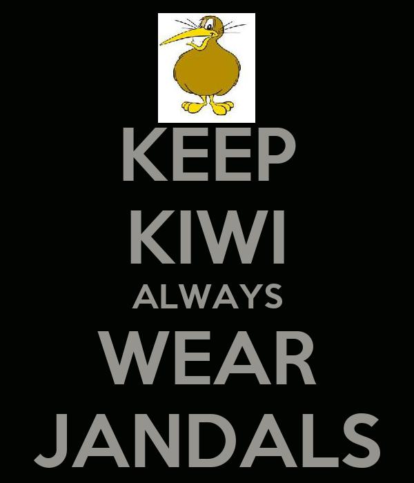 KEEP KIWI ALWAYS WEAR JANDALS