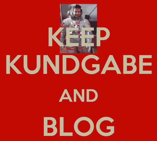 KEEP KUNDGABE AND BLOG ON