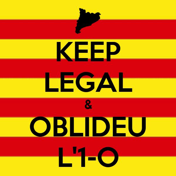KEEP LEGAL & OBLIDEU L'1-O