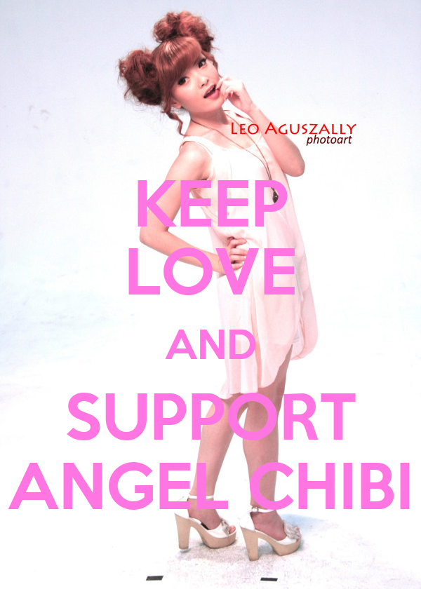 KEEP LOVE AND SUPPORT ANGEL CHIBI