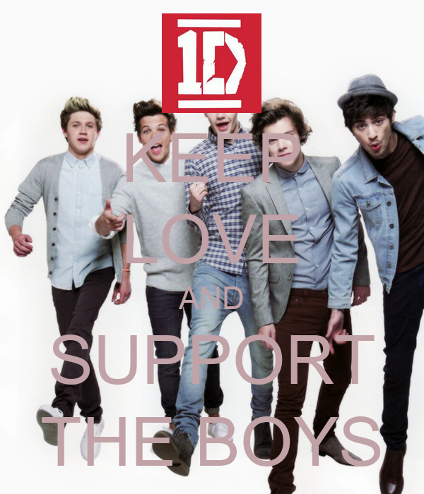KEEP LOVE AND SUPPORT THE BOYS