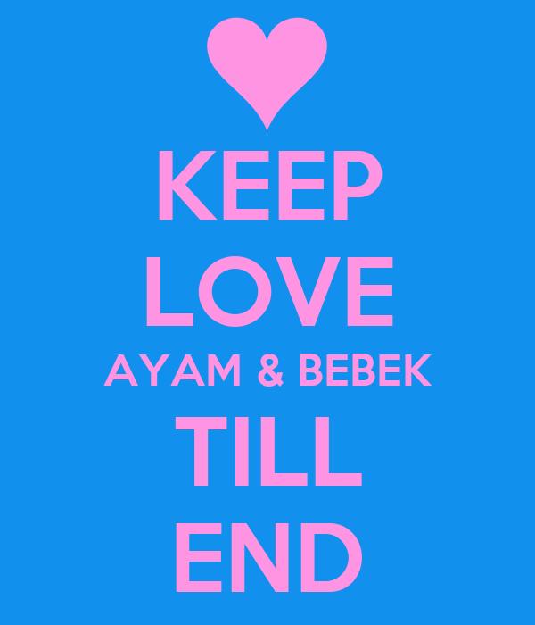 KEEP LOVE AYAM & BEBEK TILL END