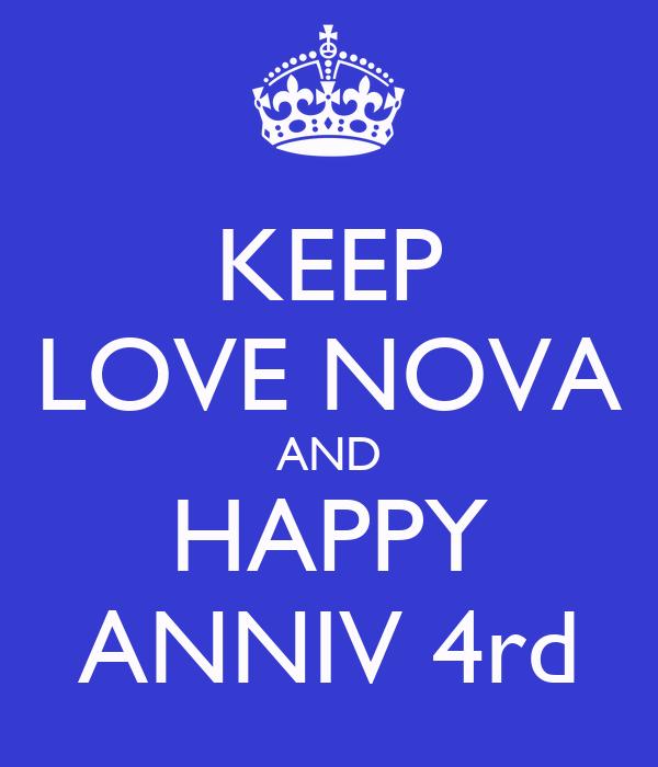 KEEP LOVE NOVA AND HAPPY ANNIV 4rd