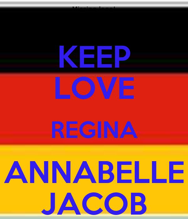 KEEP LOVE REGINA ANNABELLE JACOB