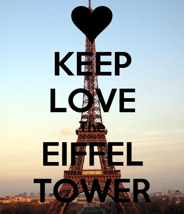 KEEP LOVE The EIFFEL TOWER