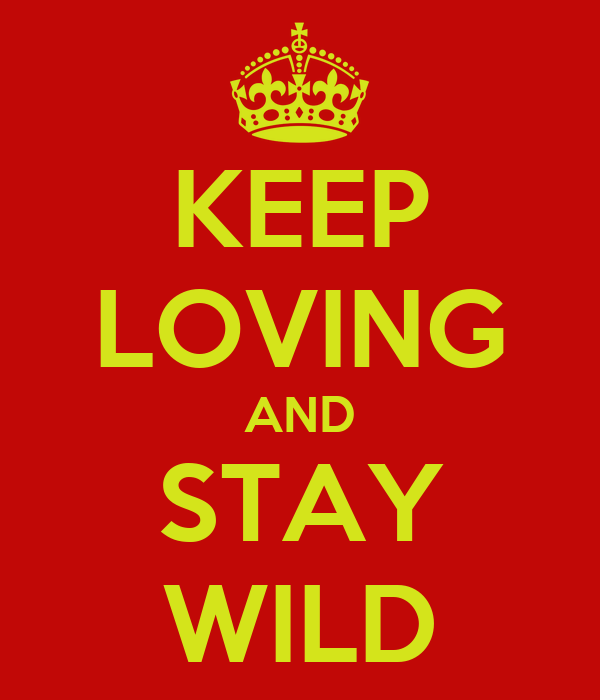 KEEP LOVING AND STAY WILD