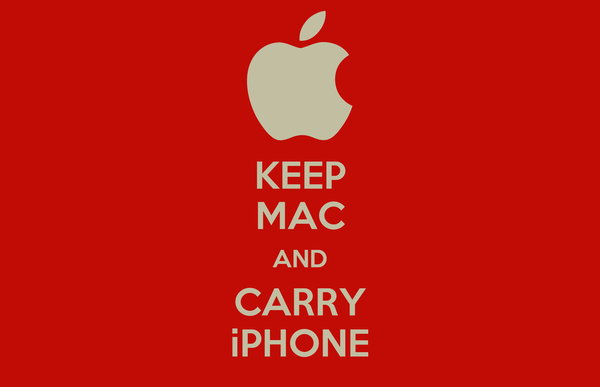 KEEP MAC AND CARRY iPHONE