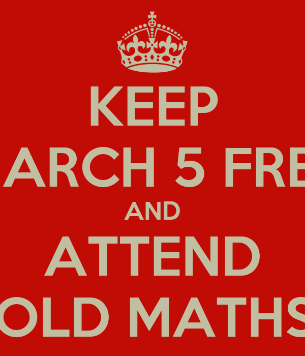 KEEP MARCH 5 FREE AND ATTEND THE LEOPOLD MATHS EVENING