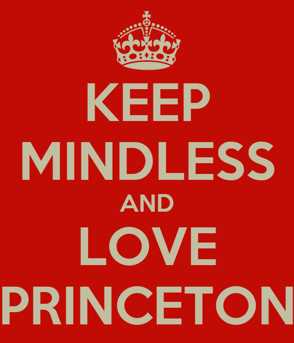 KEEP MINDLESS AND LOVE PRINCETON
