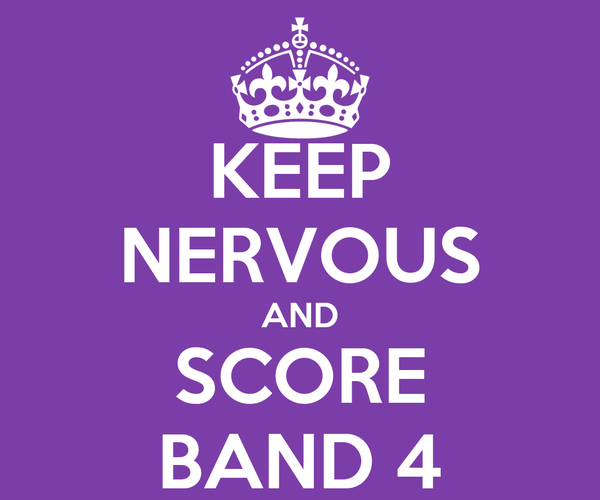 KEEP NERVOUS AND SCORE BAND 4