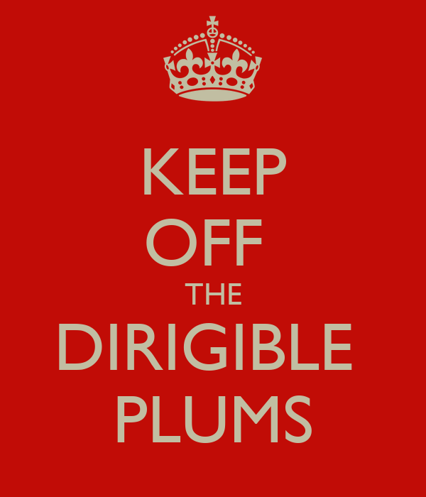 KEEP OFF  THE DIRIGIBLE  PLUMS
