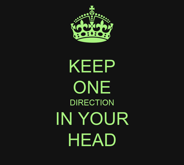 KEEP ONE DIRECTION IN YOUR HEAD