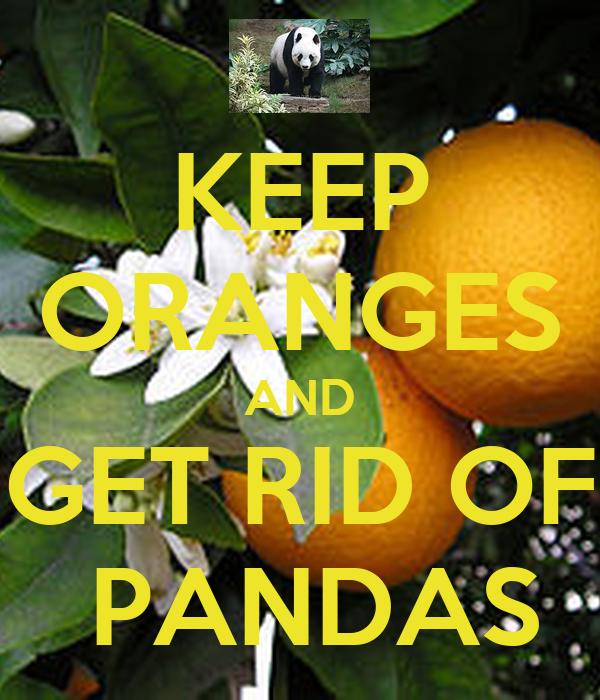 KEEP ORANGES AND GET RID OF  PANDAS
