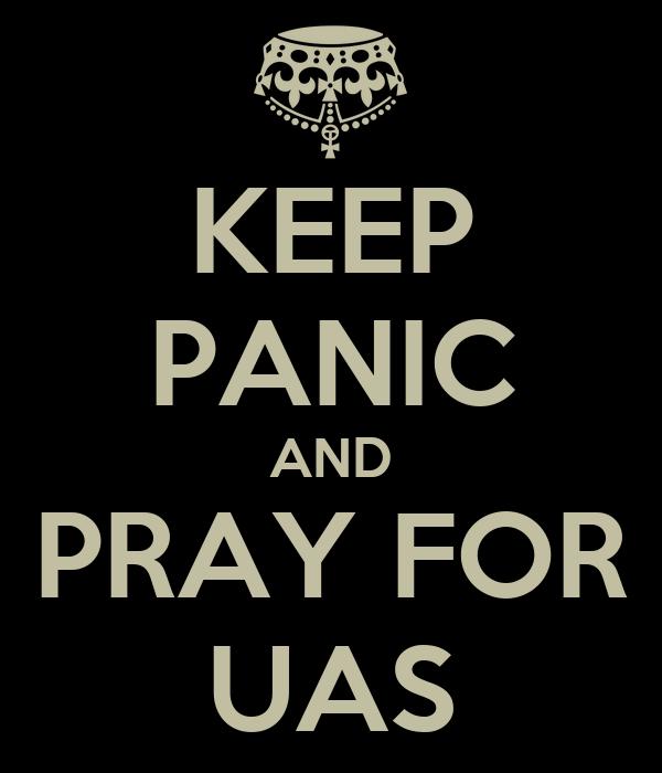 KEEP PANIC AND PRAY FOR UAS