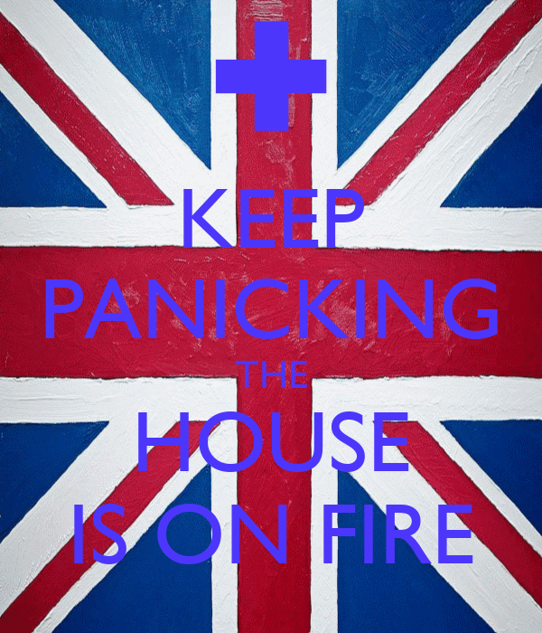 KEEP PANICKING THE HOUSE IS ON FIRE