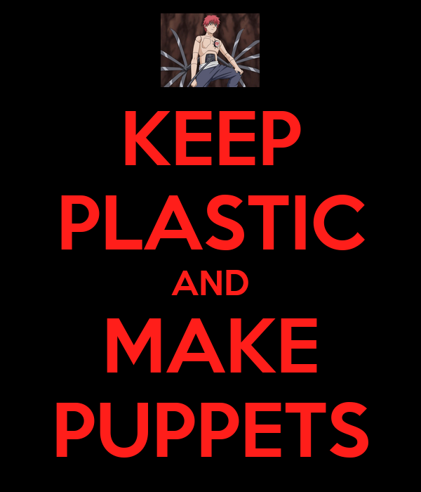 KEEP PLASTIC AND MAKE PUPPETS