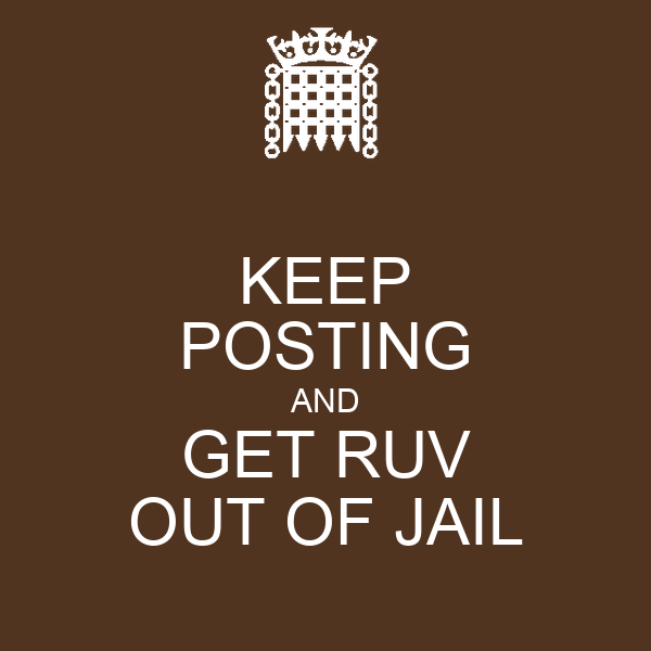KEEP POSTING AND GET RUV OUT OF JAIL