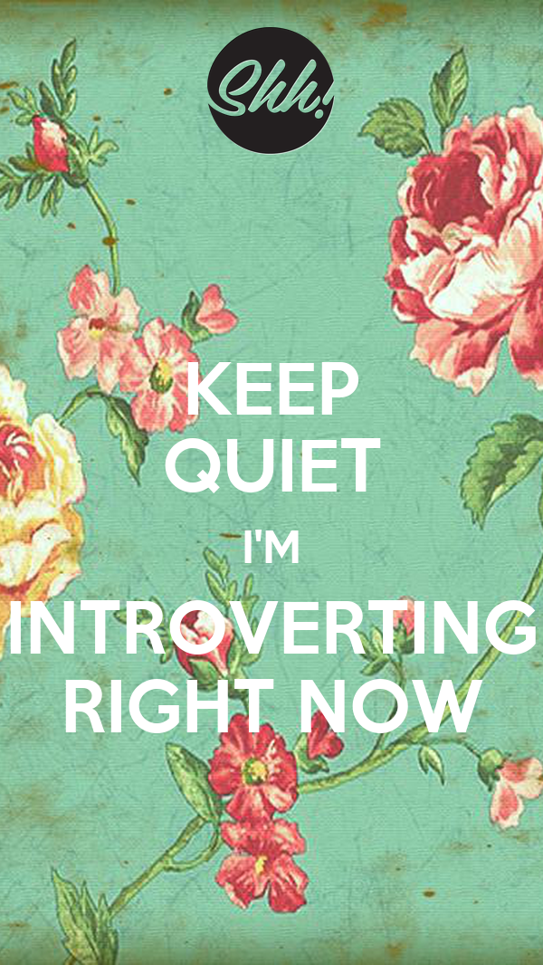 KEEP QUIET I'M INTROVERTING RIGHT NOW