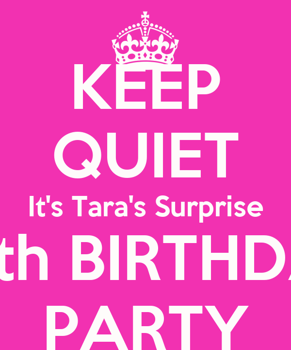 KEEP QUIET Its Taras Surprise 40th BIRTHDAY PARTY Poster Shelly
