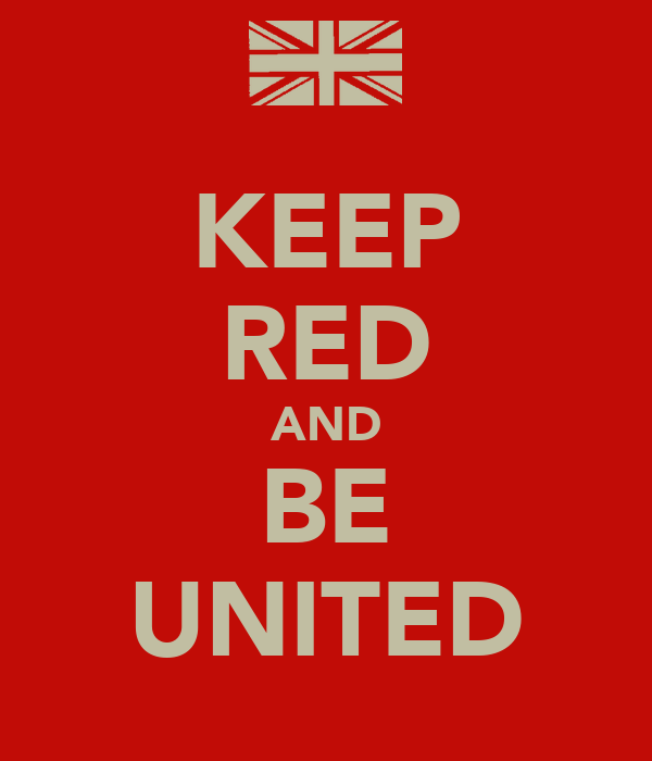 KEEP RED AND BE UNITED