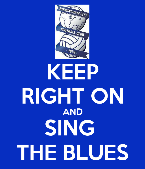 KEEP RIGHT ON AND SING  THE BLUES