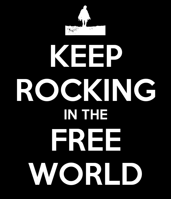 rocking in the free world Rockin' in the free world (live acoustic) lyrics: there's colors on the street / red, white and blue / people shuffling their feet / people sleeping in their shoes / but there's a warning sign on.
