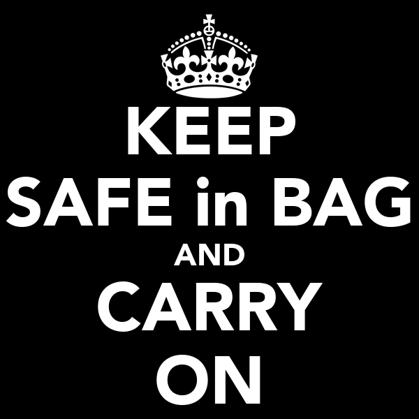 KEEP SAFE in BAG AND CARRY ON